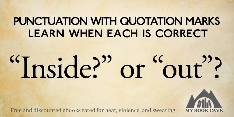 punctuation with quotation marks book cave