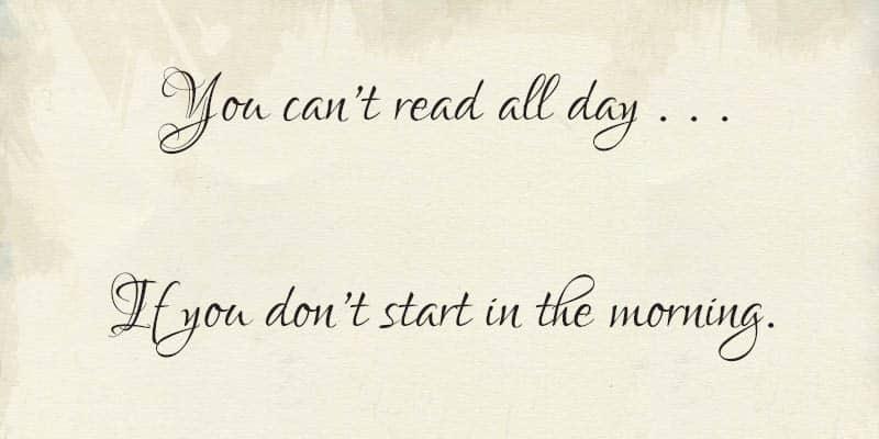 Read alll day