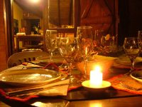 Valentine's romantic candlelit dinner @ Book Cave - content-rated books