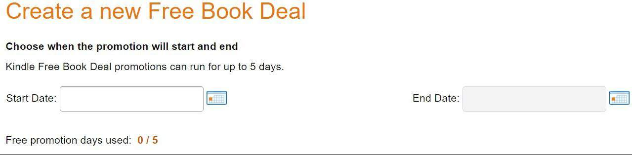 Create a new free book deal