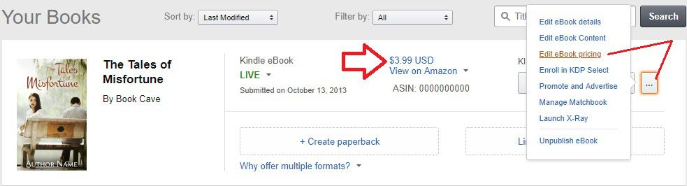 How To Discount Your Ebook On Amazon Book Cave
