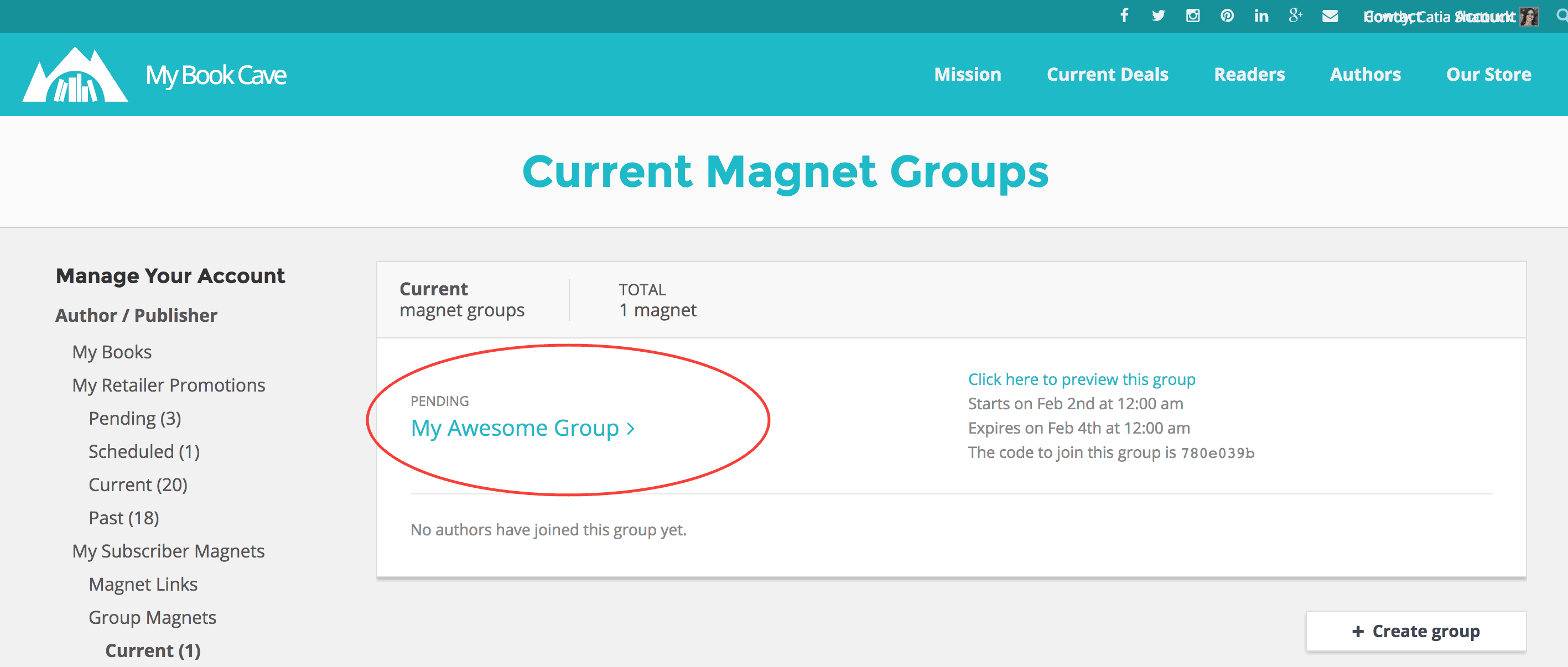 current group1