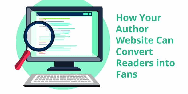 Author website can convert readers into fans