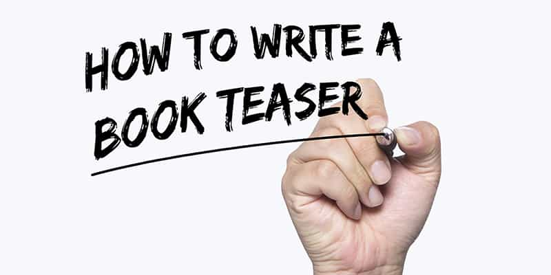 write a book teaser