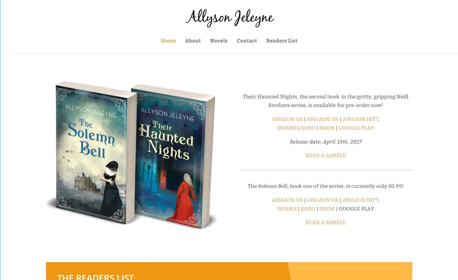 Allyson - Author website