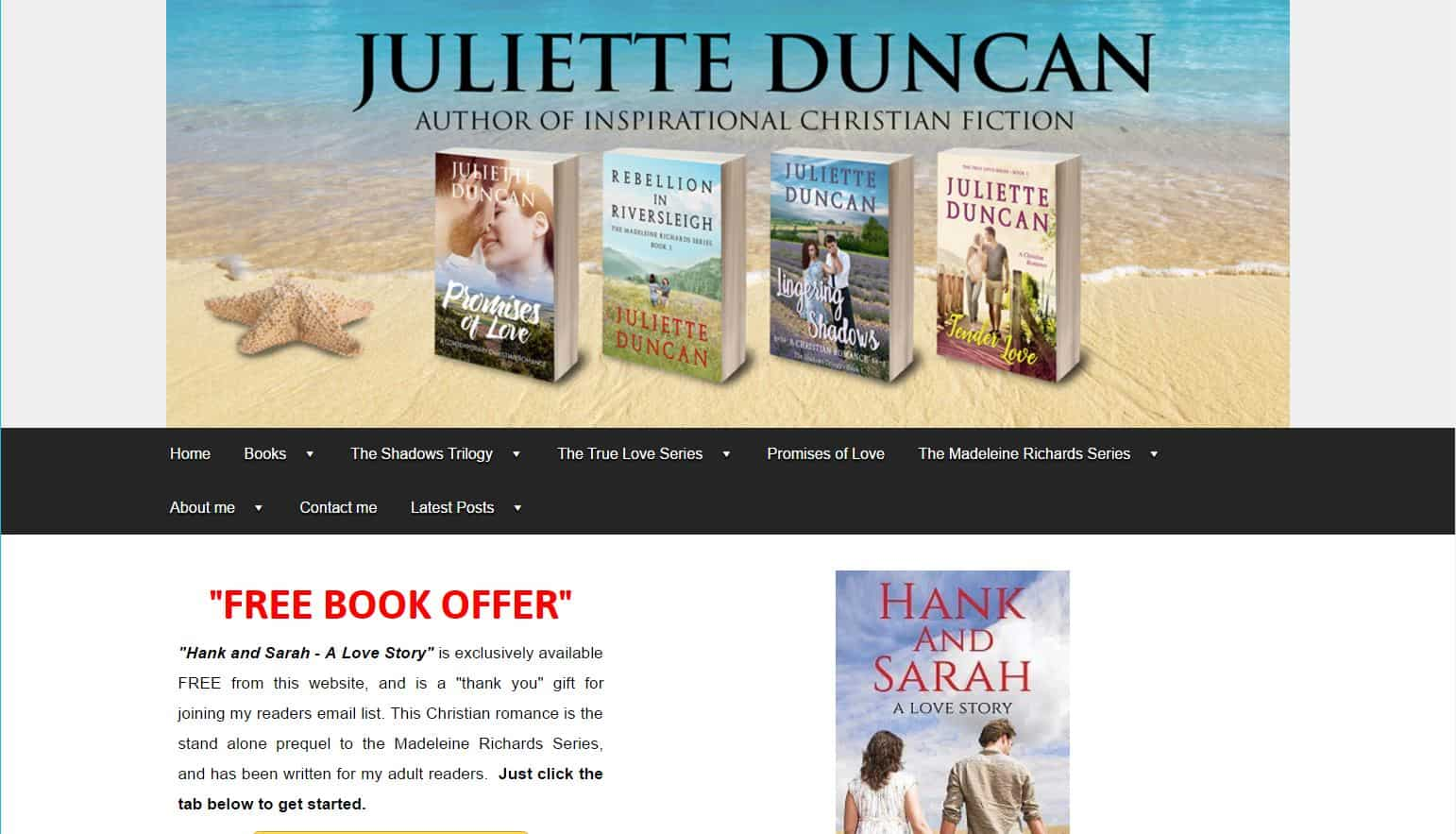 Juliette - Author website