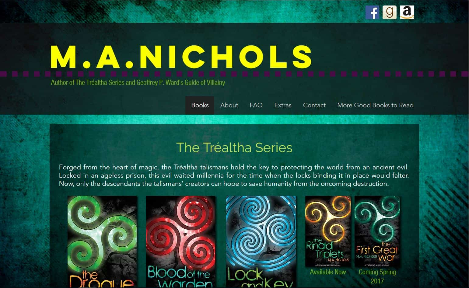 MA Nichols - Author website