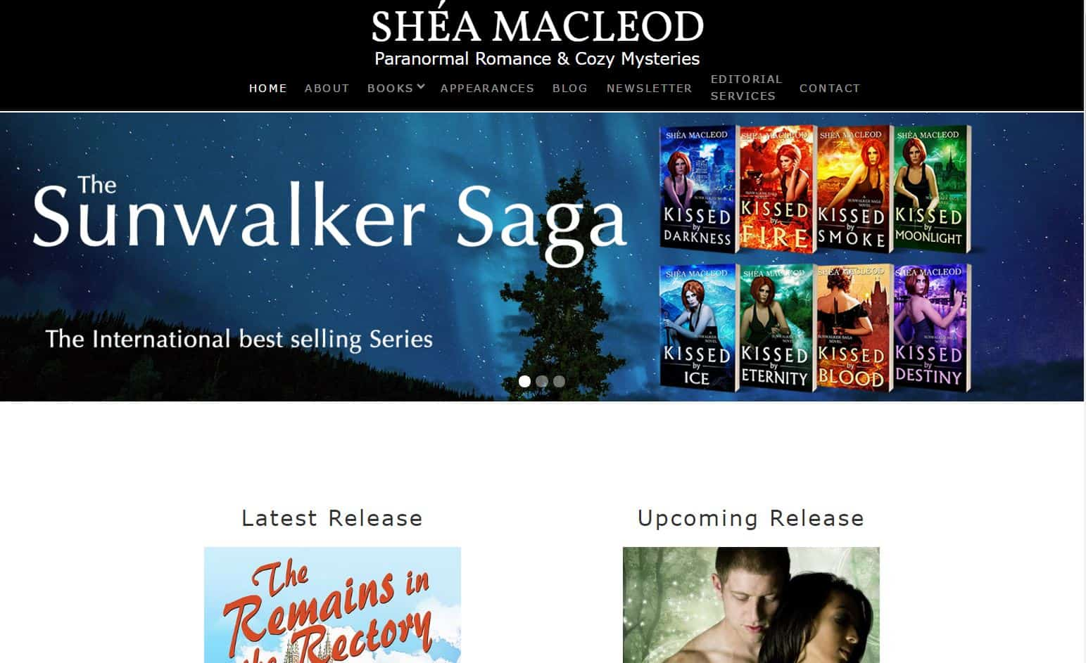 Shea - Author website