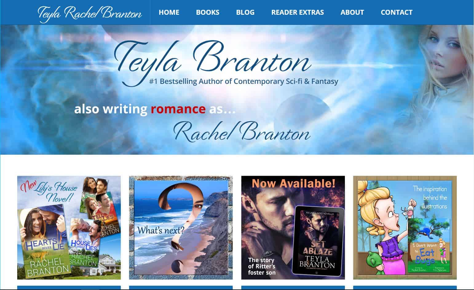 Teyla - Author website
