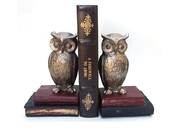 wise old owl bookends