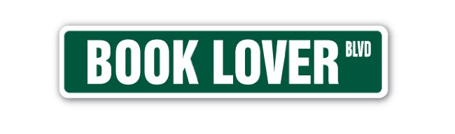 Book lover product sign