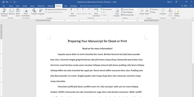 Preparing Your Manuscript