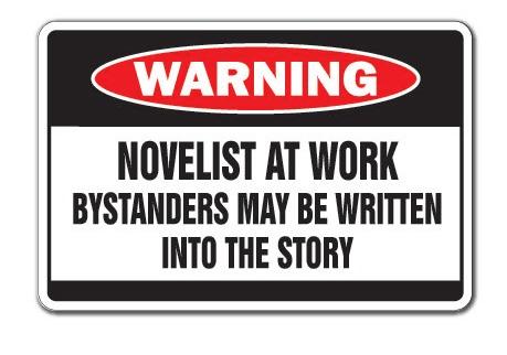 novelist at work