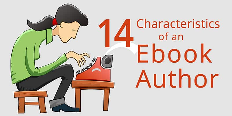 ebook author hunched over typewriter