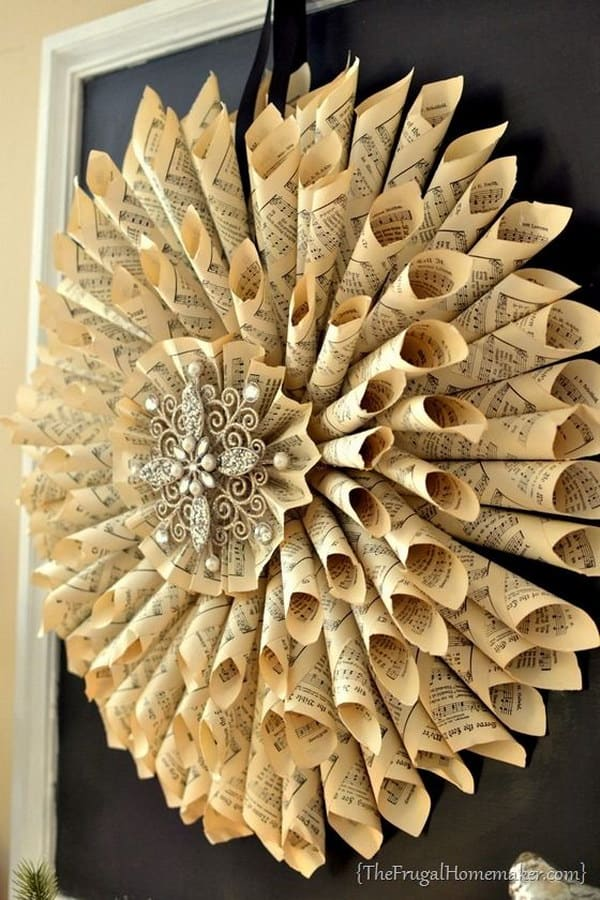 book wreath