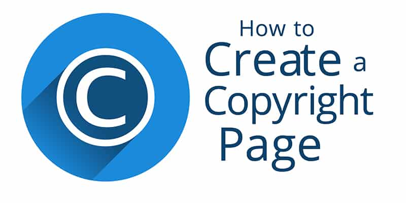 Create a Copyright Page