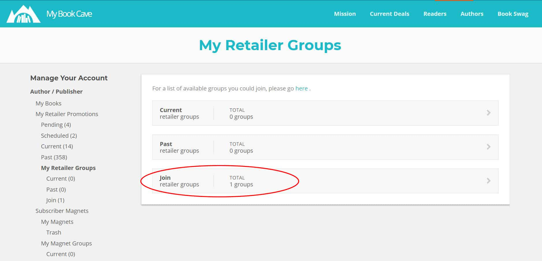 Join a group retailer promotion