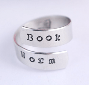 A book worm ring is one of the Best Valentine's Day Gifts for Book Lovers in 2018