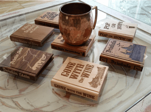 book coasters are one of the Best Valentine's Day Gifts for Book Lovers in 2018
