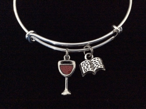 A wine and good book bracelet is one of the Best Valentine's Day Gifts for Book Lovers in 2018