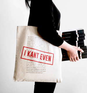 a kant book bag is one of the Best Valentine's Day Gifts for Book Lovers in 2018
