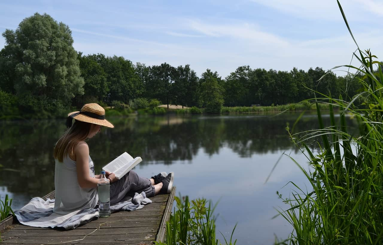 Things Readers Are the Best At including reading by a lake