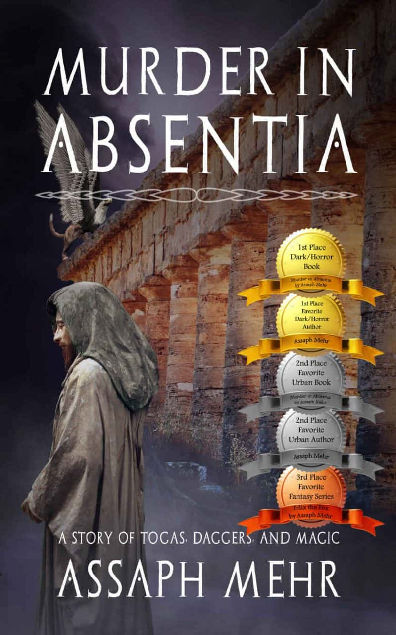 Cover for Murder In Absentia: Togas, Daggers, and Magic: Urban Fantasy based on Ancient Rome