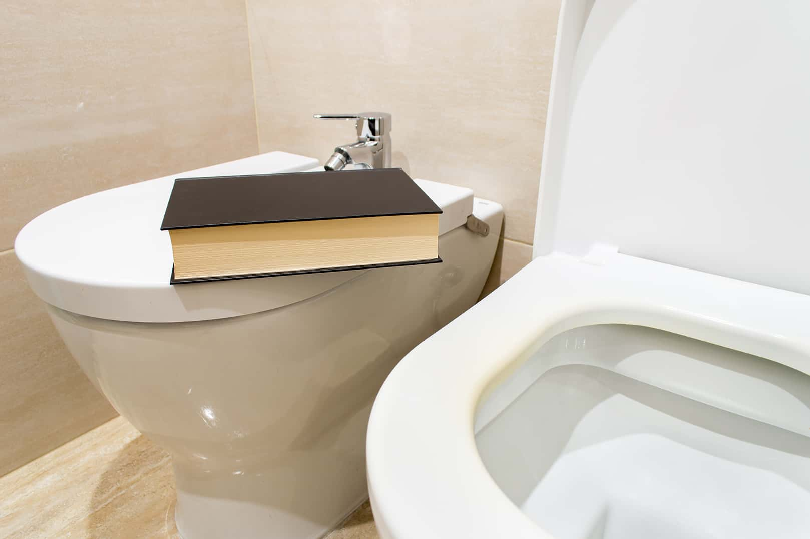 books don't belong in the bathroom