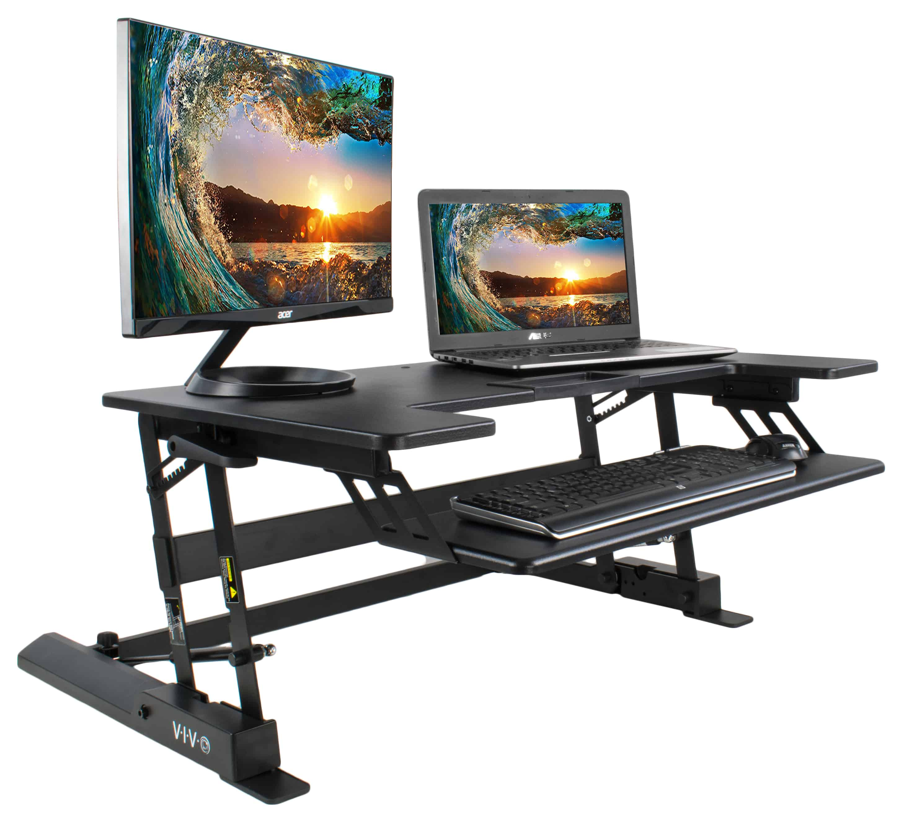 Vivo standing desk with gas spring