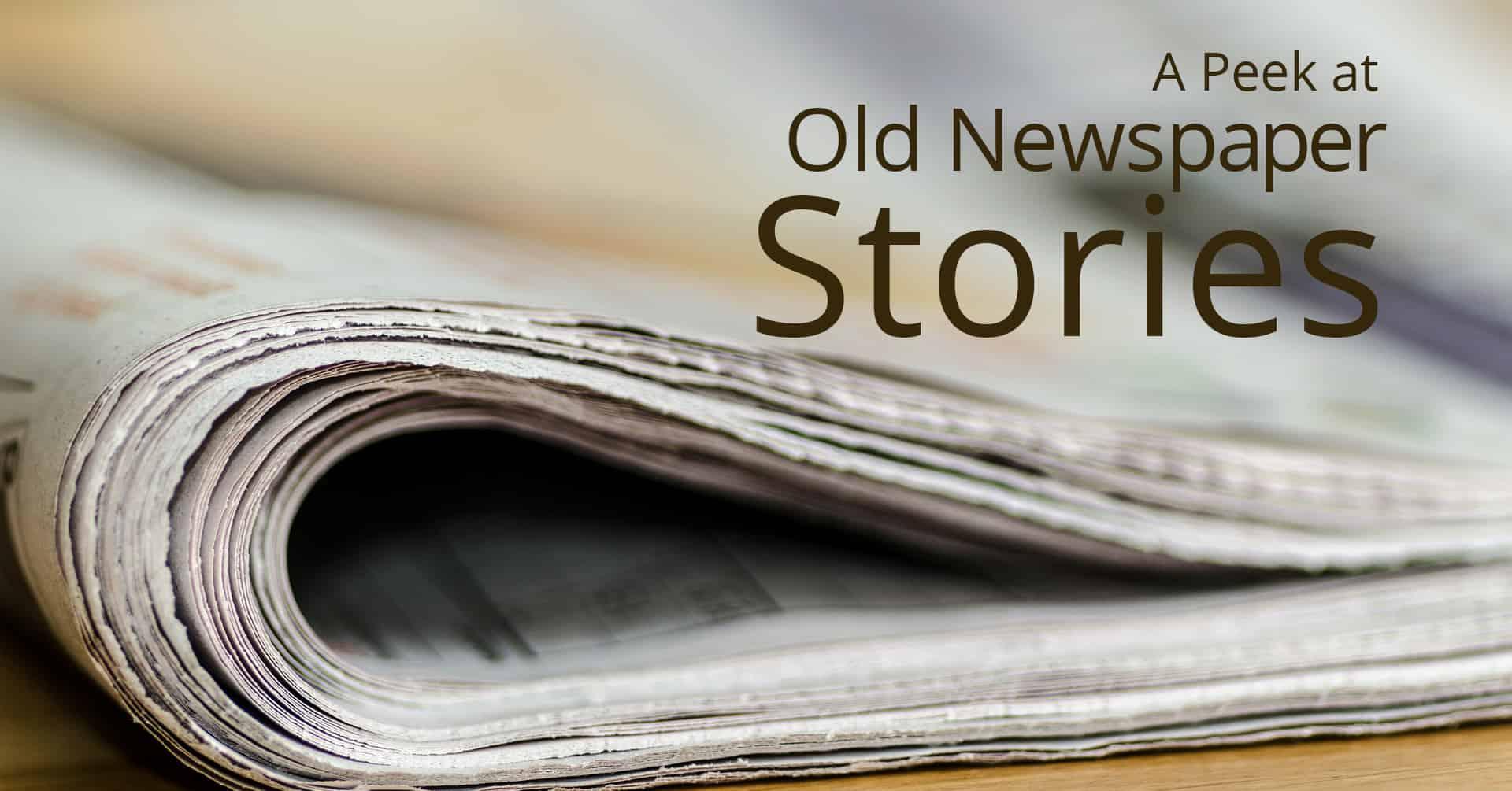 old newspaper stories