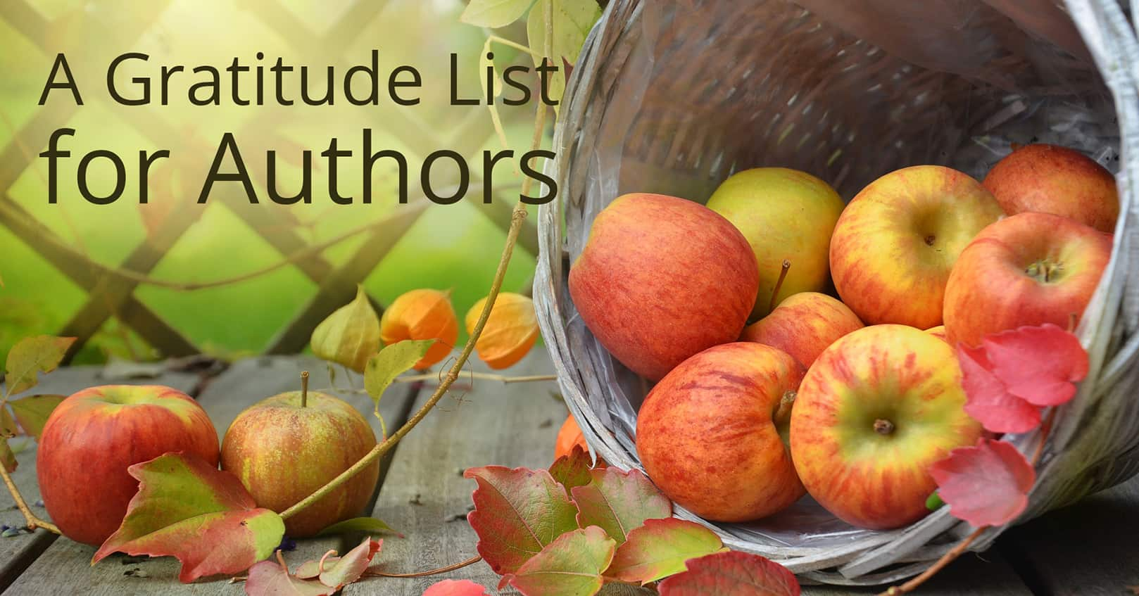 gratitude list for authors