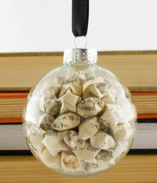 Book Ornament Stars