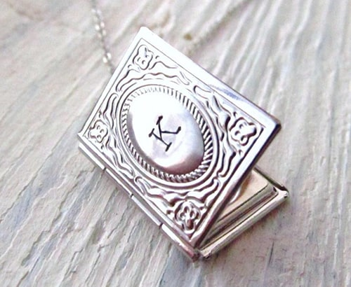 Personalized Book Locket Necklace