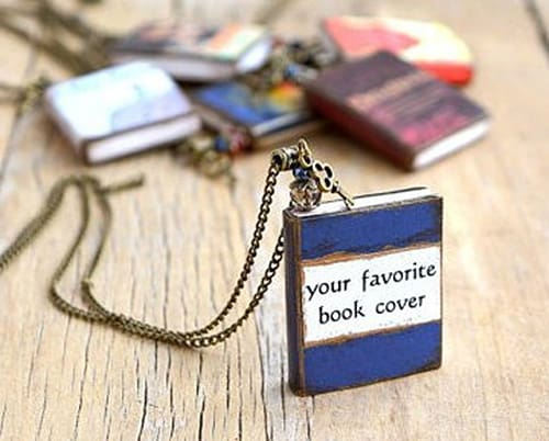 Personalized book necklace