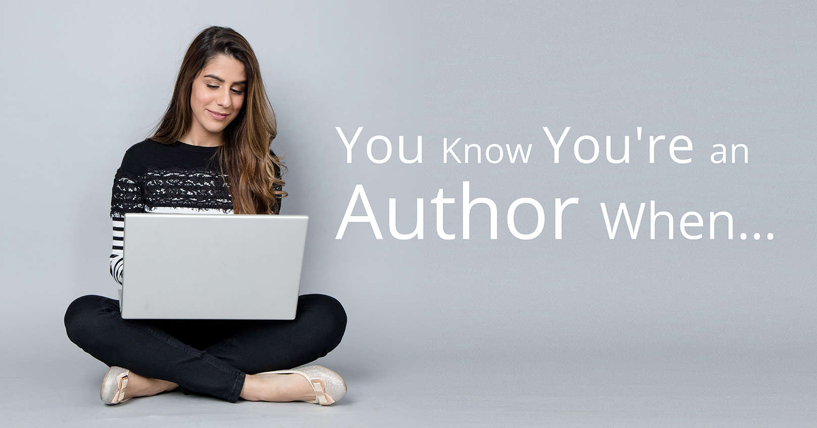 you're an author