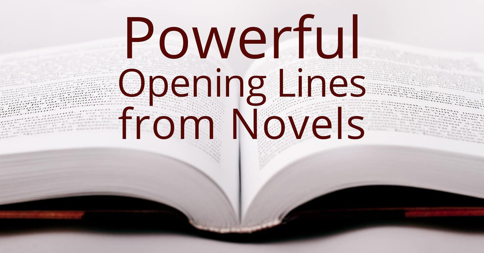 Powerful Opening Lines from Novels