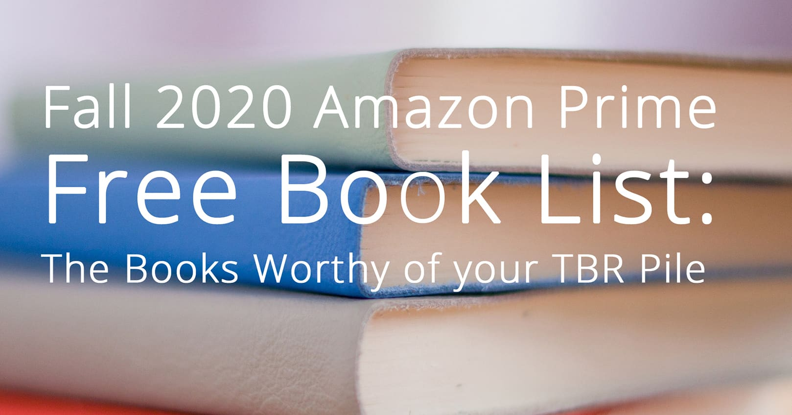 Amazon prime free book list