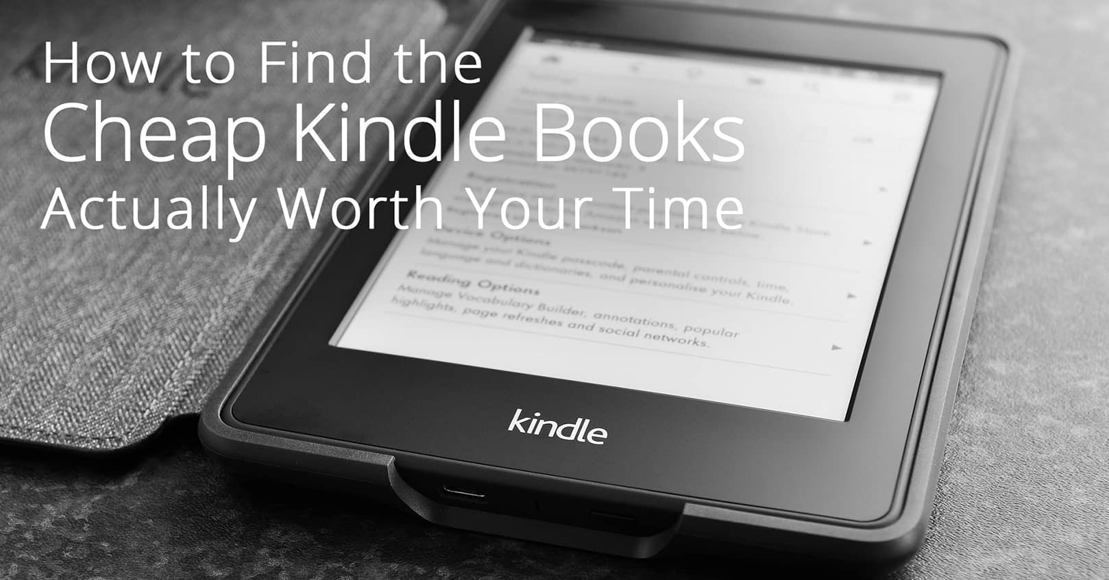 find cheap kindle books worth your time