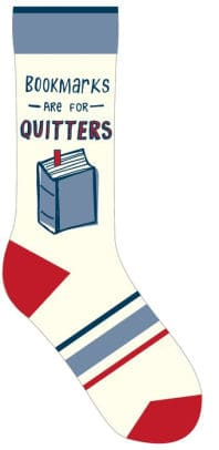 bookmarks are for quitters sock