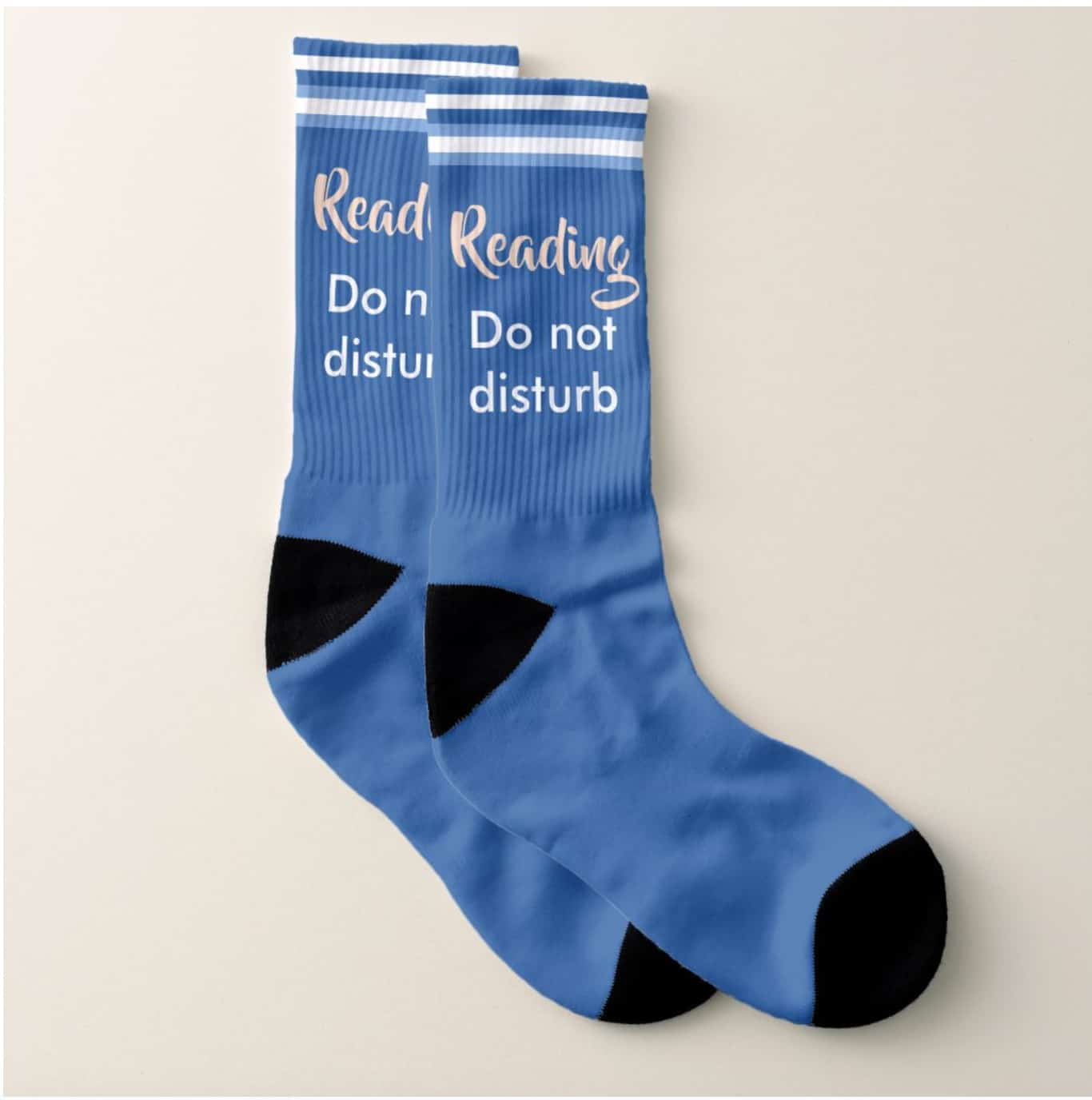 reading do not disturb socks