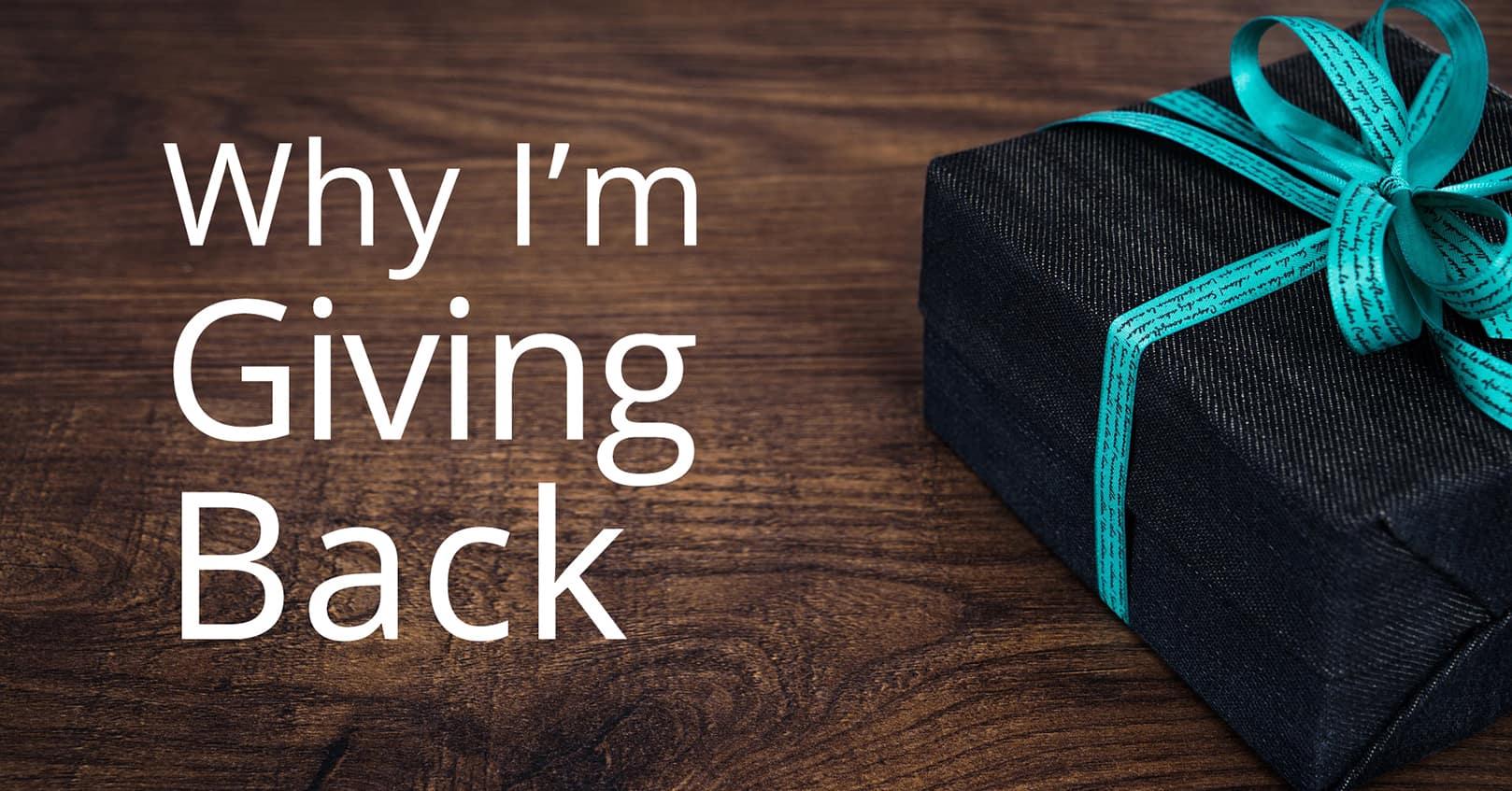giving back for mental health