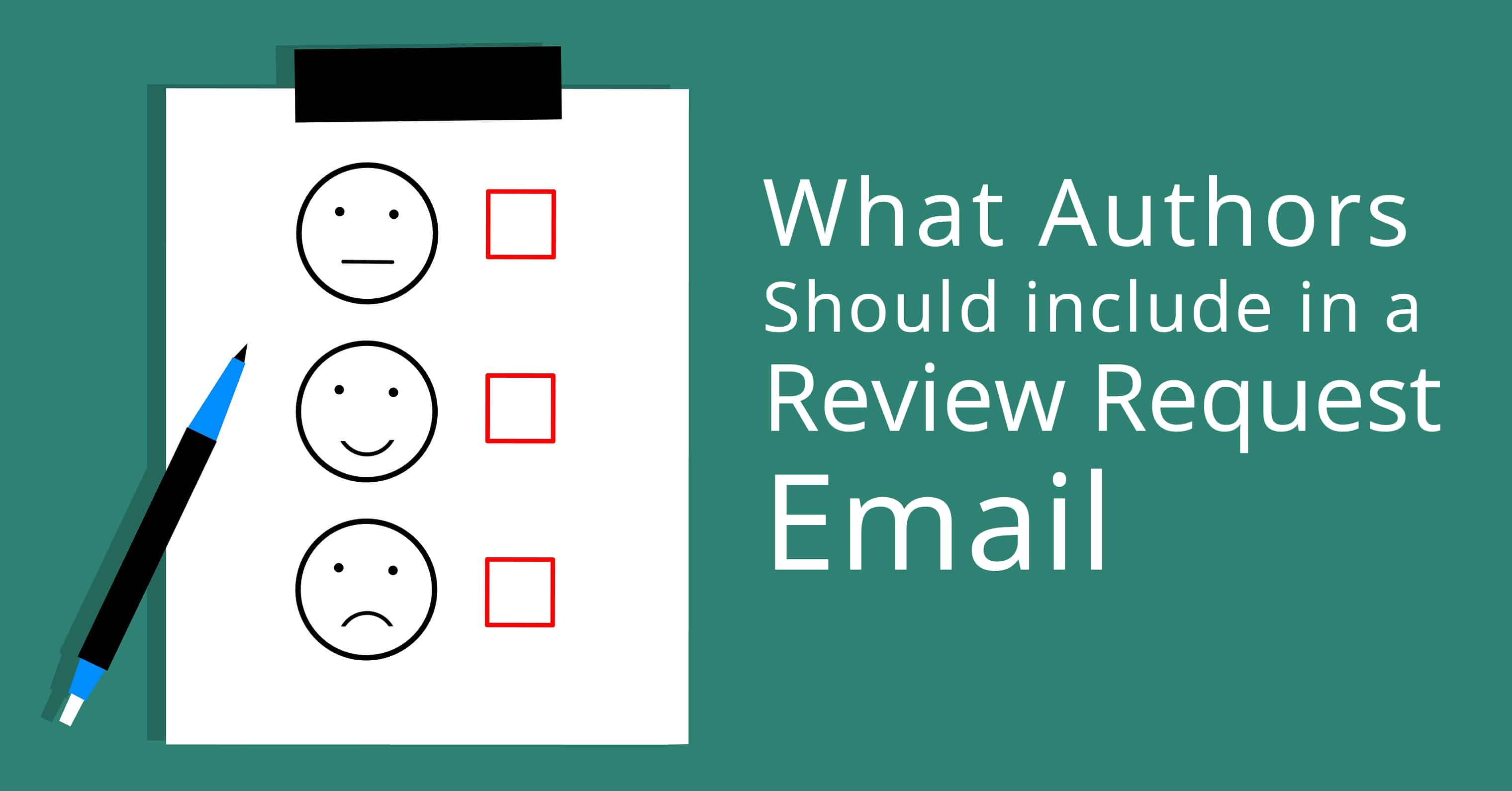 What Authors Should include in a Review Request Email