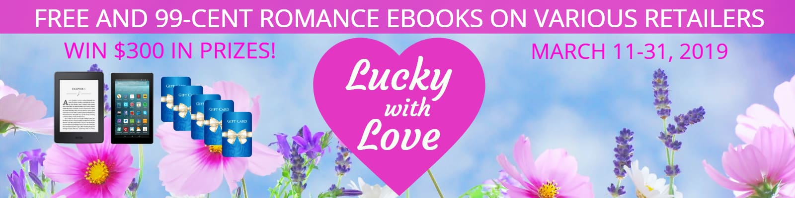 Lucky with Love Mega Romance Giveaway