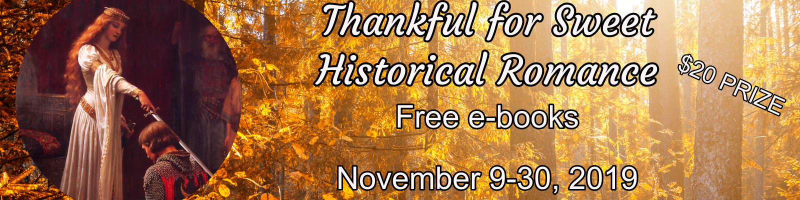 Thankful for Sweet Historical Romance!