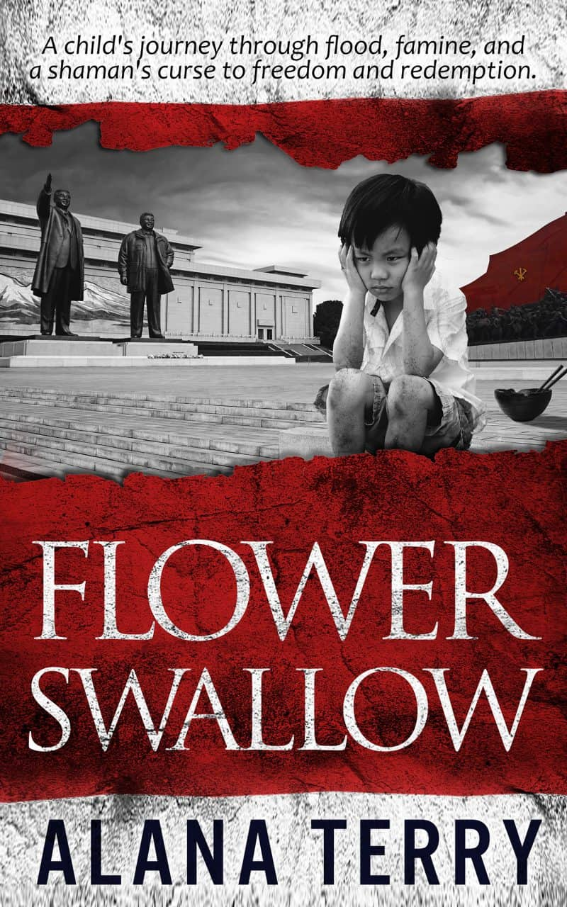 Cover for Flower Swallow (award-winning Christian fiction set it North Korea)