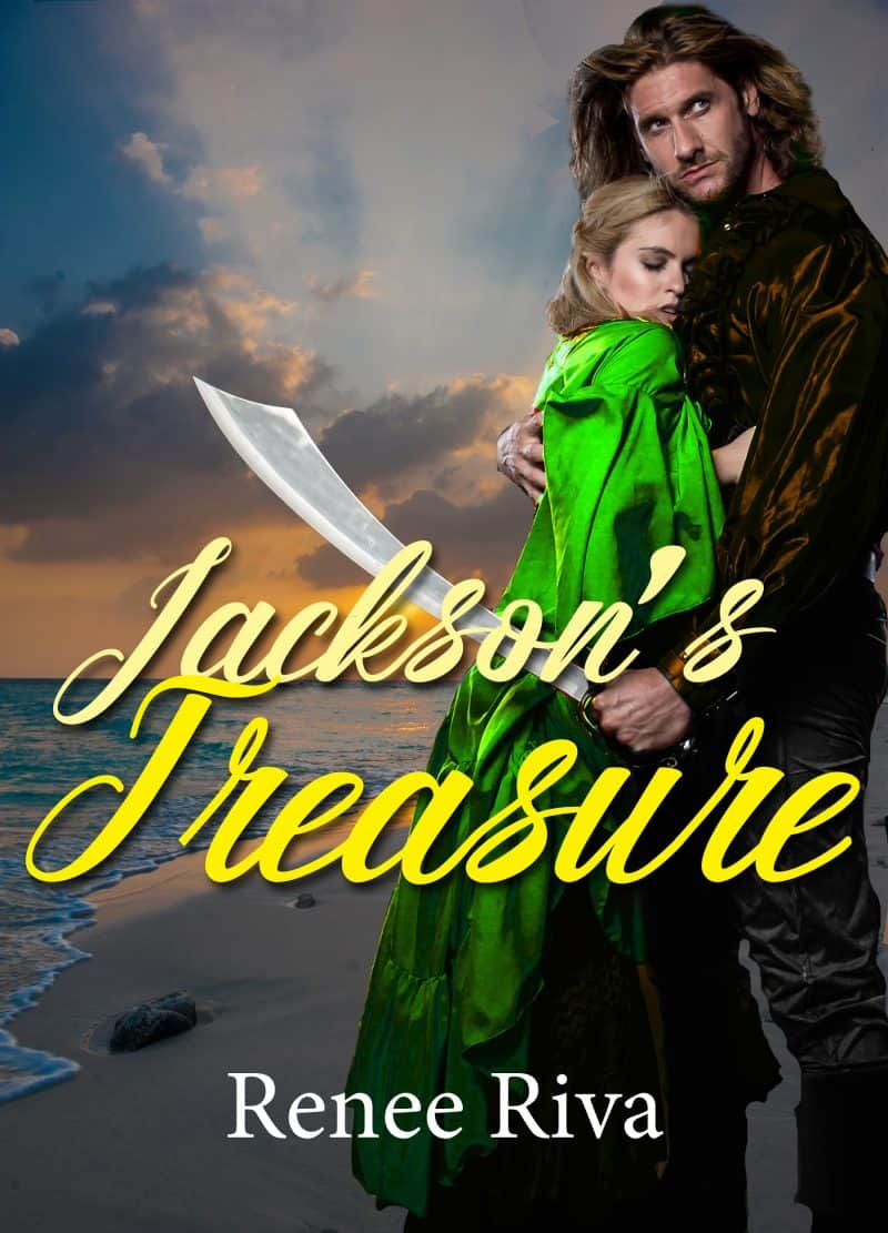 Cover for Jackson's Treasure; A suspenseful romantic comedy erupts at sea