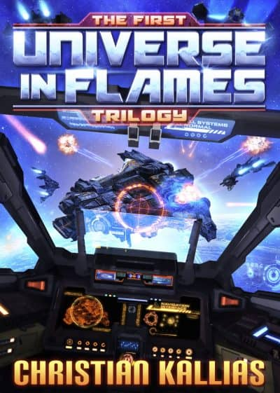 Cover for The First Universe in Flames Trilogy