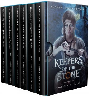 Cover for The Keepers of the Stone/Voyages of Fortune Omnibus