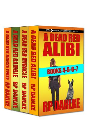 Cover for The Dead Red Mystery series books 4-5-6-7