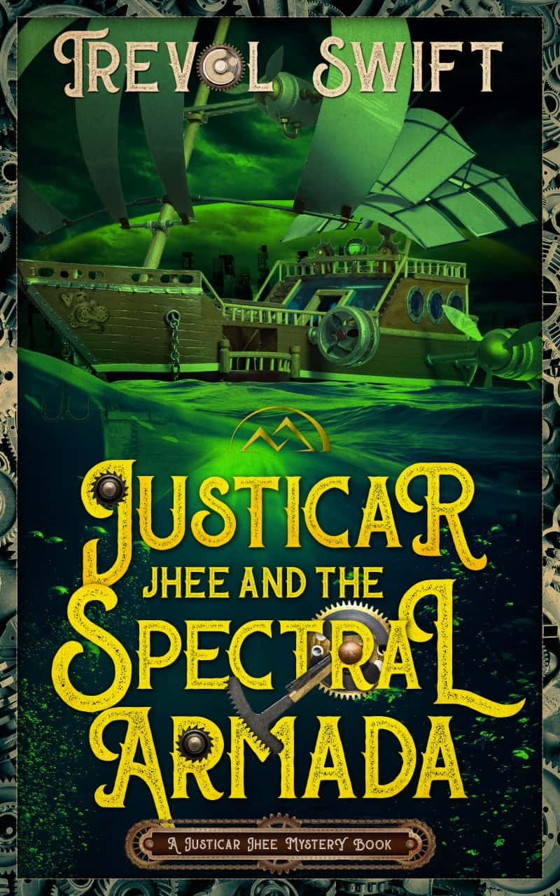 Cover for Justicar Jhee and the Spectral Armada: A Justicar Jhee Mystery